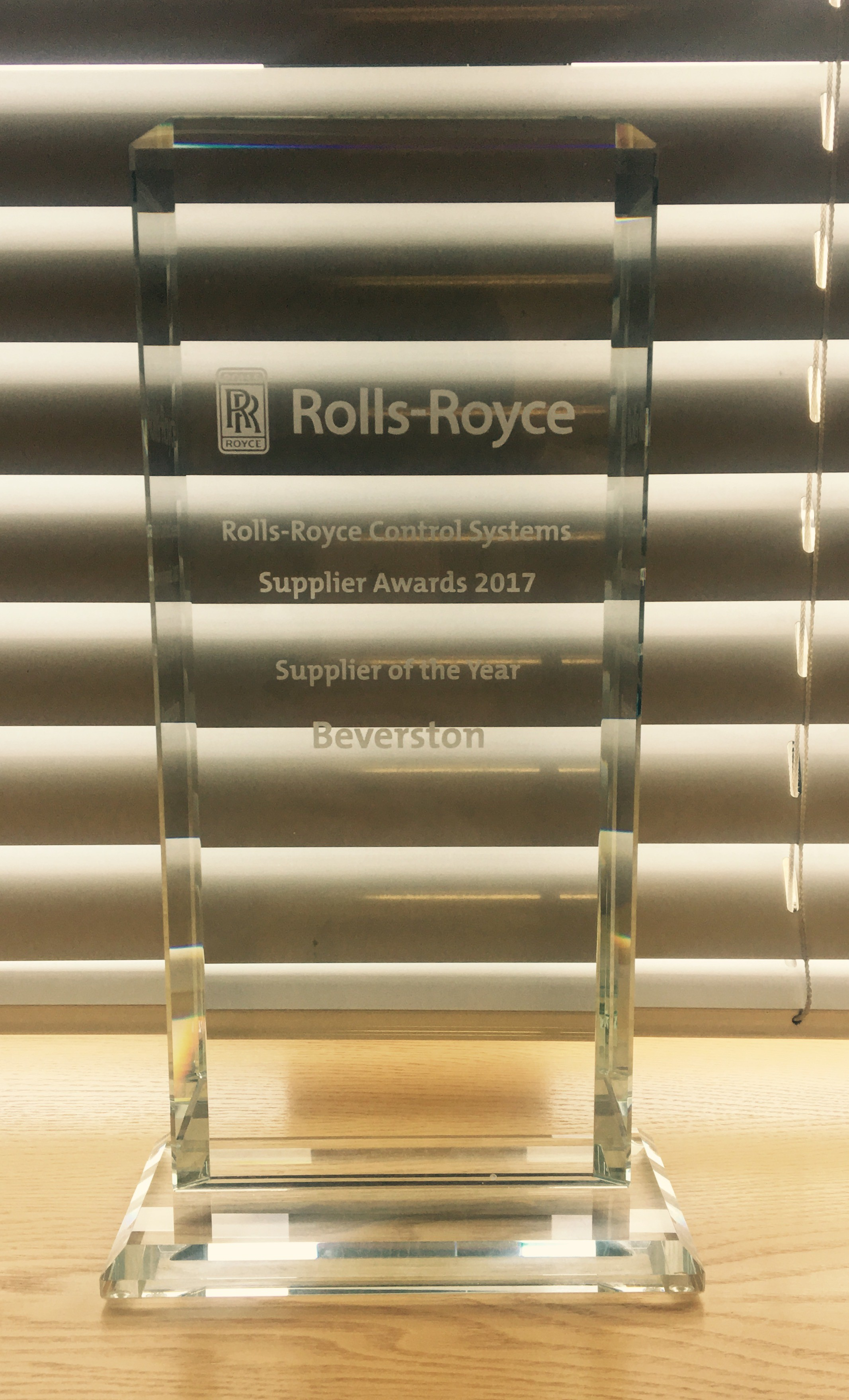 Rolls-Royce CS Supplier Award 2017 edited